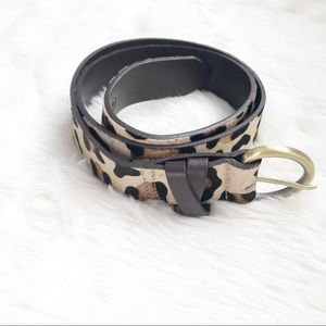 Boden Womens Size Small Leather Leopard Belt